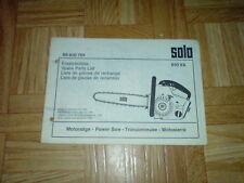 Orig. ETL Solo 610 VA Motorsäge