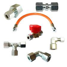 Verschraubungen zum Anschluss eines Gasherdes Gasinstallation Winkel Schneidring