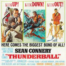 THUNDERBALL JAMES BOND 007 Home Wall Print Movie Film Poster A4,A3,A2,A1