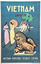 Poster Vintage Saigon Vietnam Turismo A3 impresión