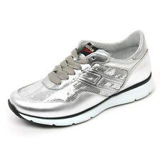 B9534 sneaker donna HOGAN CLUB H254 TRADITIONAL scarpa argento shoe woman
