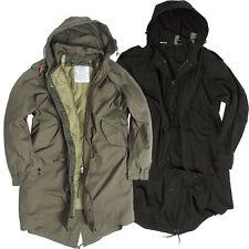 américaine COQUILLE Parka M51 avec doublure 3xs-l noir olive Fishtail veste