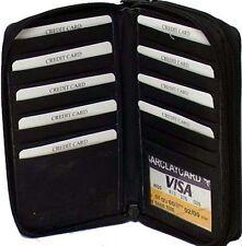 Genuine Cowhide Leather Zippered Ladies Wallet Cards # 7616