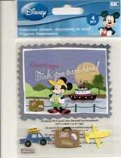 Disney MICKEY POSTCARD Vacation 3d Scrapbook Stickers