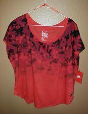 Nike Signal Dip Dye Camo T-Shirt Red Camo Size M & L # 715333 696