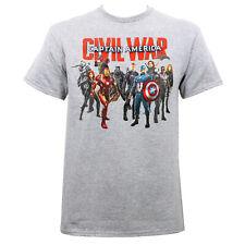 MARVEL CAPTAIN AMERICA CIVIL WAR Civil Group Shot T-Shirt Grey S-2XL NEW