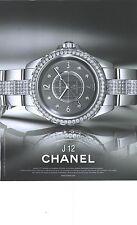 PUBLICITE ADVERTISING 2012 CHANEL la nouvelle montre J 12 chronomatic     290912