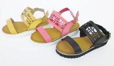 Ragazze Spot On Regno Unito di sandali di cuoio Misure 10-2 H0181