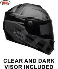 BELL SRT 2018 Blackout Modular Flip-Up FREE DARK VISOR Motorcycle Touring Helmet