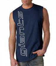NEW Giants VERT SHIRT Sleeveless Navy T-shirt LARGE XL 2XL New York Blue Wave