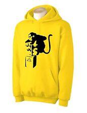 BANKSY DETONATOR MONKEY HOODY - Urban Art T-Shirt - Choice Of Colours - S to XXL