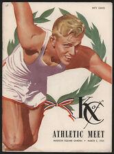 1955 Annual K of C Indoor Athletic Meet Program, NYC