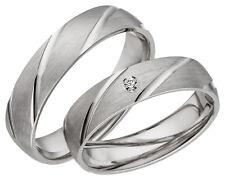 JC Silber Eheringe 925 Sterling Verlobungsring Trauringe inkl. Gravur & Etui A05