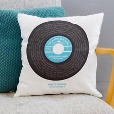 PERSONALISED Vinyl Record Lyrics Print Cushion - ANY SONG - Anniversary Gift