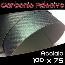 Pellicola Adesiva CARBONIO Acciaio - 100 x 75