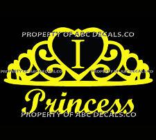 VRS Crown Royal Tiara Queen Princess Heart Love Custom INITIAL I Car Vinyl Decal