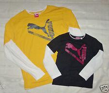 Puma Boys White Longsleeve Top Shirt Sizes 4, 5, Medium or Extra Large NWT