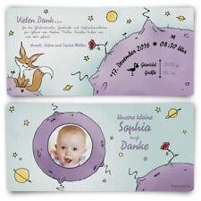 Dankeskarten Geburt - der kleine Prinz - Geburtskarten Danksagungskarten