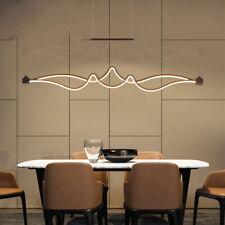 Modern Acrylic LED Chandelier Linear Belt Wavy Drop Pendant Lamp Light Fixtures