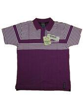Polo uomo RICHBEAR Tg. M L XL Cotone Fucsia Righe Bianco T-shirt 32710 New