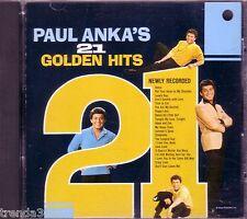 Paul Anka 21 Golden Hits CD Classic 60s 70s Rock Anthology Diana Crazy Love Rare