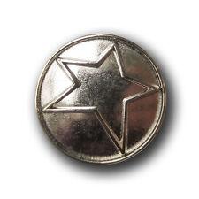 Günstige glänzend silberfarbene Metallknöpfe mit Sternen B-WARE 2236sg