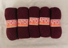 Blend Alpaca Knitting Yarn Wool 5 Skeins 500g Burgundy