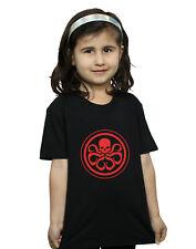 Marvel Bambine e ragazze Hydra Logo Maglietta