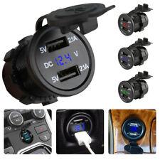 Doppio USB PORTA ALIMENTAZIONE ACCENDISIGARI DA AUTO PRESA SPINA LED 12V/24V