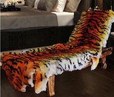 Real Sheepskin Fur Australia Tiger Leopard Carpet Rug Soft Plain Mat Chair Sofa