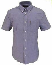 Ben Sherman Denim Gingham Tab Check Short Sleeved Shirts