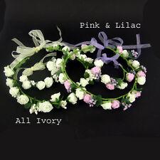 Hochzeit Brautjungfer Boho Floral Blume Fest Stirn Stirnband Haar Girlande