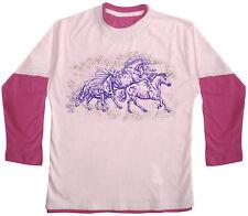 Kinder Langarm Shirt 110 - 164 neu Collection Boetzel Sternen Pony Einhorn 08666