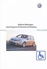 VW Programm f. Menschen mit Handicap Prospekt 8 03 brochure 2003 Auto PKWs