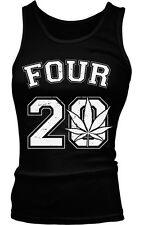 Four 20 Twenty Numbers Smoke Weed Pot Jersey Time High Vape Bong Girls Tank Top