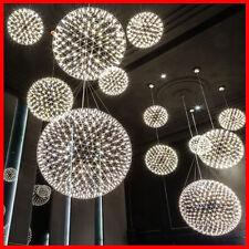 Stainless Steel Frame Round Ball Chandelier Ceiling Pendant Light Fireworks look