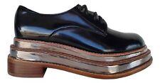 ORIGINALI  JEFFREY CAMPBELL JAGGER 2 MET PU BLACK Scarpe Platfom Nere Sneakers