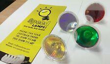 Coloured GU10 50w 35w Halogen Light Bulbs, Various Colours & Wattages