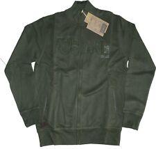 MAGLIA felpa UOMO taglia  M L XL XXL 3XL giacca calda apertura zip verde