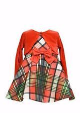 BONNIE JEAN BABY 18M, 24M Velvet Shrug & Plaid Holiday Dress NWT $50