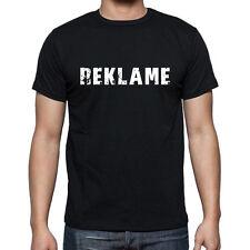 reklame, Herren Tshirt Schwarz, Hommes Tshirt Noir, Geschenk, Cadeau