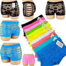 Damen Netz String Hotpants Slips Hipsters Unterhose  Slip