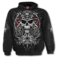 JUDGE REAPER Hoodie Black Reaper//Skeleton//Skulls//Undead//Metal//Biker//Rock//Goth