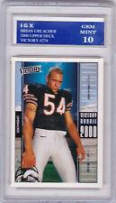 Brian URLACHER 2000 NFL RC Card CHICAGO BEARS ROOKIE Football GRADED GEM MINT 10