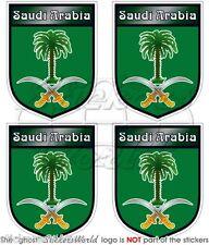 """ARABIE SAOUDITE Arabe Bouclier 50mm (2 """") Vinyle Autocollants Stickers x4"""
