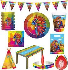 indio Cumpleaños Niños Fiesta Temática decoración de Set cowboy