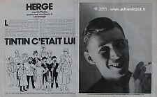 VIEUX PAPIER PUBLICITE MORT DE HERGE TINTIN MILOU DUPONT CASTAFIORE DE 1983 AD