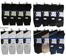3/6/12 pares hombres 100% algodón calcetines anti-bacteriana 6-11 Lote Nuevo baja tasa de