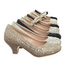 Jemma Children Girl Rhinestone Crystal Glitter Pump For Wedding & Parties