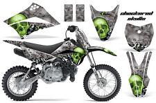 AMR RACING MOTOCROSS NUMBER PLATE GRAPHIC DECAL KIT KAWASAKI KLX 110 10-12 CSGS